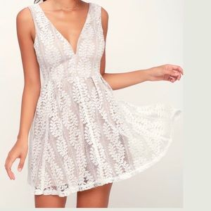 Lulu's Dresses - NWT LuLus | All of My Heart | Lace Skater Dress